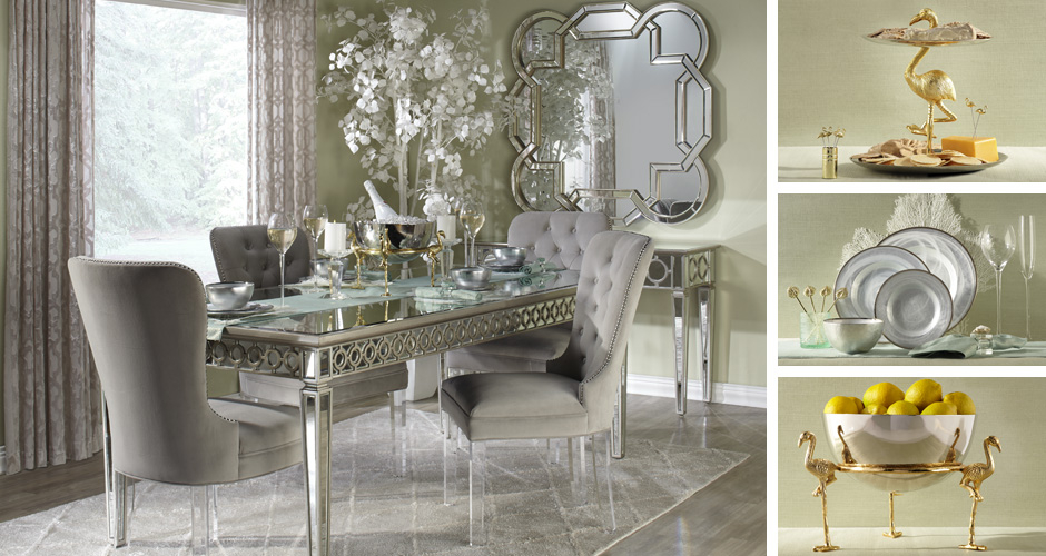 Sophie Elegant Glamour Dining Room Inspiration