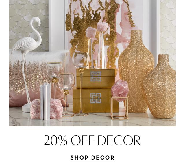 20% off Decor