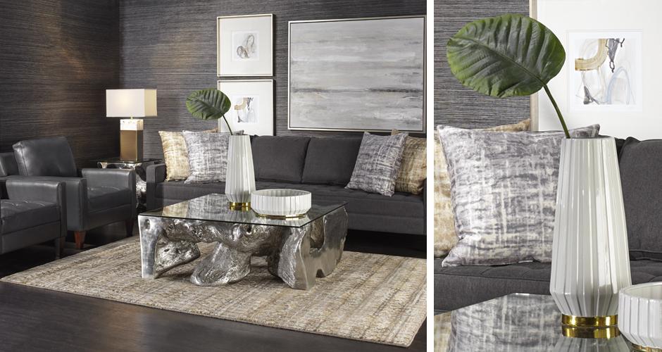 Vapor Leather Living Room Inspiration