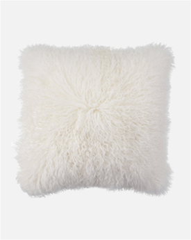 White Mongolian Pillow