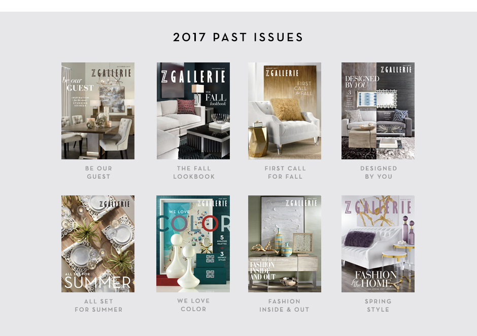Past Catalog Issues Z Gallerie
