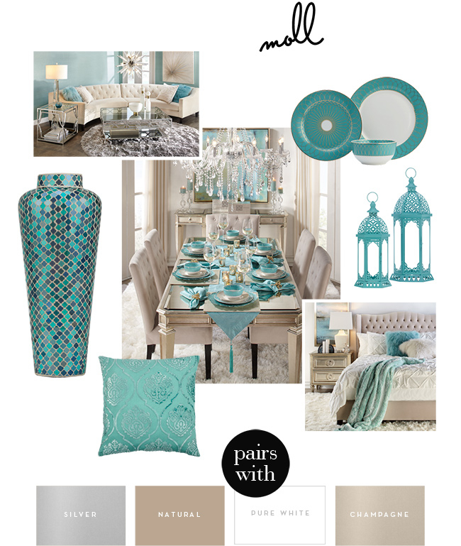 Color Story Aqua Aqua Home Decor