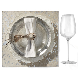 Solaris Dinnerware with Bird ornament. Get the Look >
