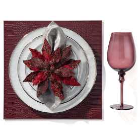 Paramount DInneware with Poinsettia Napkin Ring. Get the Look >