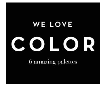 We Love Color - 6 Amazing Palettes