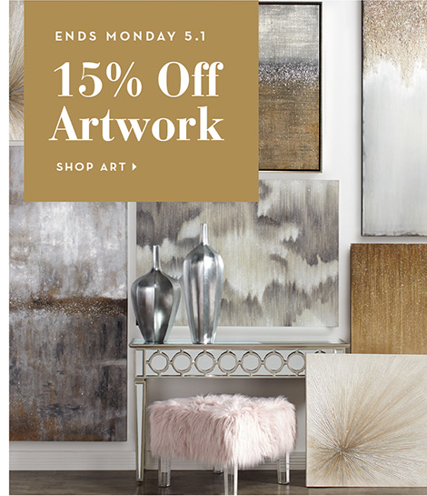 15% Off Artwork - Ends Monday. Shop Art >
