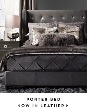 Porter Bed in Leather