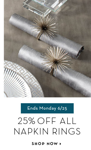 Shop Sale: Napkin Rings