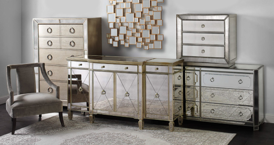 Mirrored Furniture Mirrored Dressers Tables Z Gallerie
