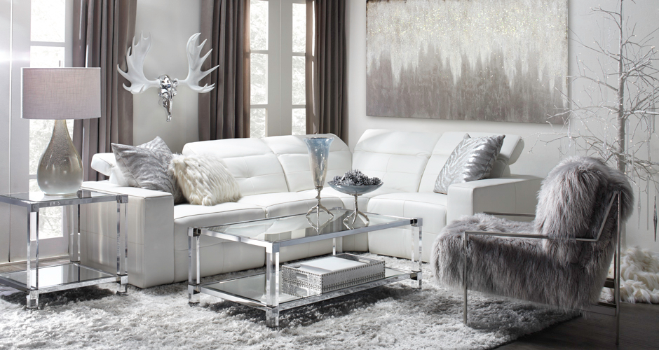 Living Room Inspiration | Milan Leather Sofa Sectional | Z Gallerie